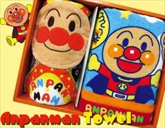 子供達の一番人気☆それいけ!アンパンマンタオルセット(顔付きミニタオル1P、フェイス1P)