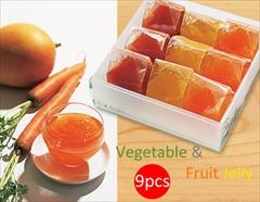 太陽の恵みいっぱい♪国産ベジタブルとフルーツのきらきらジュレギフト(9個)