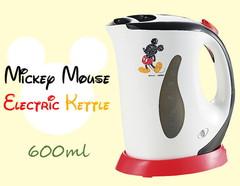 沸騰したら電源OFF!安心設計のミッキーマウス 電気ケトル(600ml)