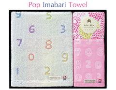 ネオジャパニーズ ポップな和デザインの今治タオル(バス1P、フェイス1P、ウォッシュ1P)(ピンク)