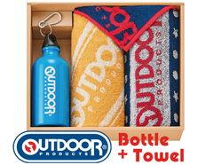 USカジュアル OUTDOORのドリンクボトル&タオルギフト(ボトル×1、フェイス×2、ミニタオル×1)