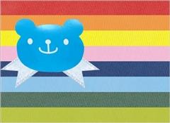 キャンディベアシール(ブルー)+リボン(ライトブルー)