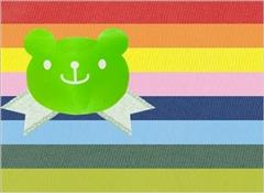 キャンディベアシール(グリーン)+リボン(ライトグリーン)