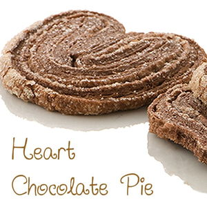 Heart chocolate pie