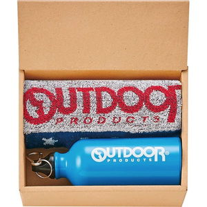 USカジュアル OUTDOORのドリンクボトル&タオルギフト(ボトル×1、フェイス×1)