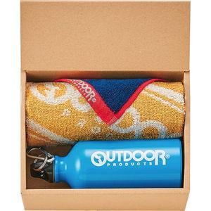 USカジュアル OUTDOORのドリンクボトル&タオルギフト(ボトル×1、フェイス×1、ミニタオル×1)