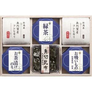 新潟コシヒカリを贅沢に楽しむ お米とご飯のお供のギフトセット(6pcs)