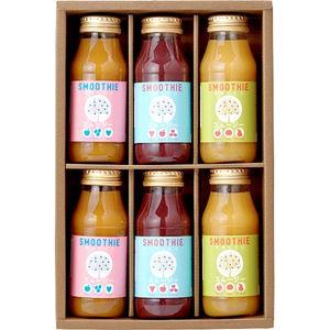 国産素材だけで作った 安心おいしいフルーツスムージー(6 bottles)