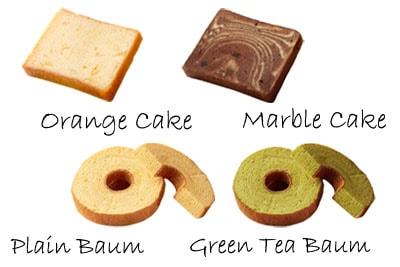 「人気のしっとりケーキ4種類を詰合せ♪バウムクーヘン&パウンドケーキセット」の特長説明