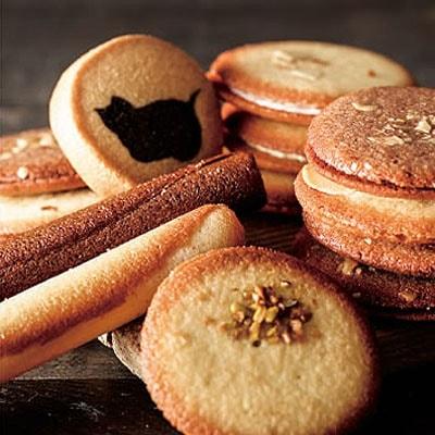ネコちゃんシルエットクッキー入り♪ローズボックスクッキーギフト