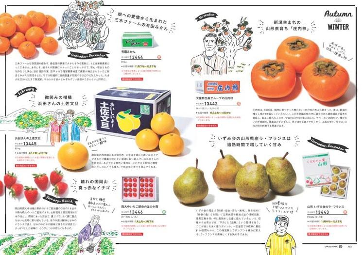 かき、りんごほかフルーツ