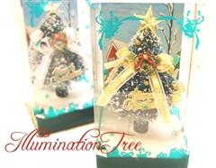 クリスマスの定番ギフト☆BOX入りイルミネーション・クリスマスツリー(ゴールド)