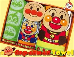 子供達の一番人気☆それいけ!アンパンマンタオルセット(顔付きミニタオル1P、バス1P、フェイス2P)
