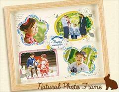ご家族・お子様・ベビー みんなの写真を一度に飾れるナチュラルフォトフレーム