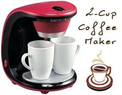 カップもペアでセット♪2カップコーヒーメーカー