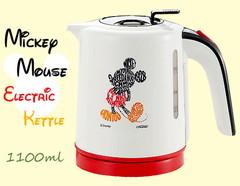 沸騰したら電源OFF!安心設計のミッキーマウス 電気ケトル(1100ml)