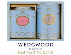 英国王室御用達 ウェッジウッドギフトセット(リーフティー×1、コーヒー×1)