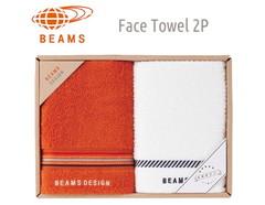 BEAMS DESIGN 上質を楽しむユニセックスタオル (フェイス2)(オレンジ)