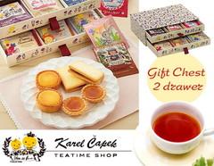 【吉祥寺】カレルチャペック紅茶店のこだわり紅茶とスイーツの引き出しBOXギフト(2段)