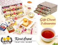 【吉祥寺】カレルチャペック紅茶店のこだわり紅茶とスイーツの引き出しBOXギフト(3段)