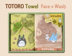 森の中にトトロがいっぱい♪となりのトトロタオルギフト(フェイス1P・ウォッシュ1P)