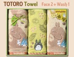 森の中にトトロがいっぱい♪となりのトトロタオルギフト(フェイス2P・ウォッシュ1P)