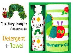 【はらぺこあおむし】デザインのキッチン洗剤&ミニタオルセット