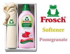 ドイツ製フロッシュ 植物由来の柔軟剤とかわいい巾着セット(ザクロ)