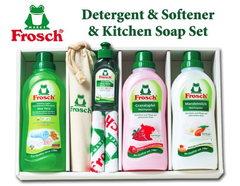 ドイツ製フロッシュ 植物由来のランドリーソープ・柔軟剤・食器用洗剤のプレミアムギフト(7pcs)