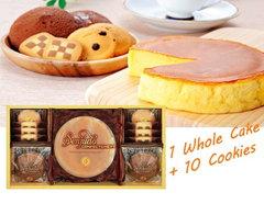 ふんわりホールチーズケーキとクッキーの詰め合わせ(whole1+10pcs)