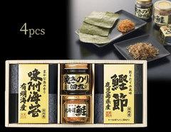 産地や素材にこだわった 佃煮・海苔の逸品ギフト(4pcs)