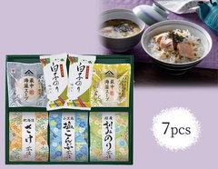 千代紙みたいなパッケージ入 海苔のおいしいお茶漬けギフトセット(7pcs)