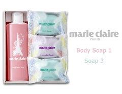 バスルームでそのまま使える マリ・クレールのソープギフト(ボディ×1、ソープ×3)
