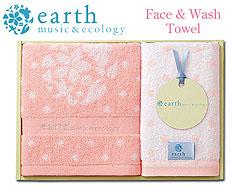 ナチュラルガーリッシュ♪earth music&ecologyのタオルギフト(フェイス1・ウォッシュ1)Pink