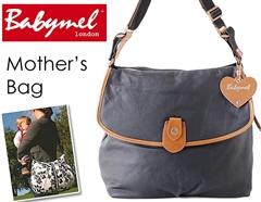 ロンドンスタイル ママのために作られたBabymelのマザーズ・サッチェルバッグ(ブラック)