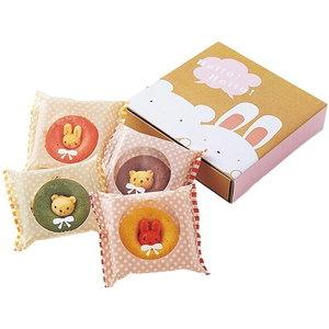 可愛いすぎて食べづらい!?うさクマ焼きドーナツ(4pcs)