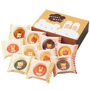 可愛いすぎて食べづらい!?うさクマ焼きドーナツ(10pcs)