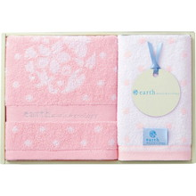 earth music & ecology towel (Face×1,Wash×1) Pink