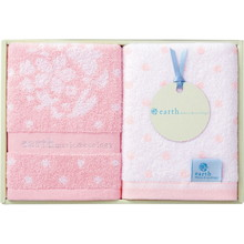 earth music & ecology towel (Face×2) Pink
