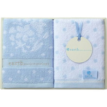 earth music & ecology towel (Face×2) Blue