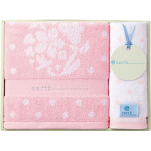 earth music & ecology towel (Bath×1,Wash×1) Pink