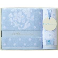 earth music & ecology towel (Bath×1,Wash×1) Blue