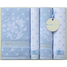 earth music & ecology towel (Bath×1,Face×2,Wash×1) Blue
