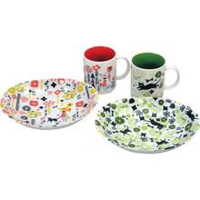Girl and Cat,Mug & Plate Gift