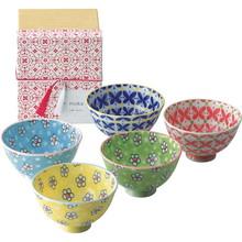 Colorful Flower Rice Bowls (5pcs)