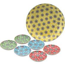 Colorful Flower Party Plates (7pcs)