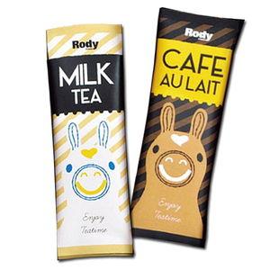 Rody Cafe au lait(2pcs) & Milk tea(2pcs)