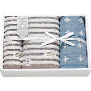 Imabari Towel Gift (Bath×1, Face×2, Guest×1)(Blue)