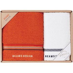 BEAMS DESIGN (Face×1,Wash×1)(Orange)