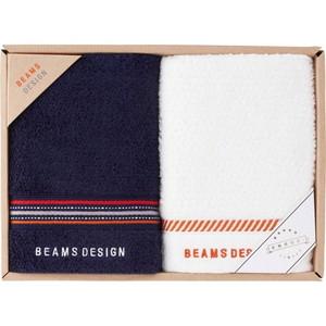 BEAMS DESIGN 上質を楽しむユニセックスタオル (フェイス2)(ネイビー)